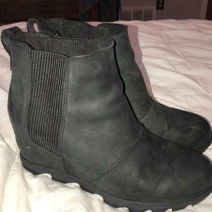 Sorel Wedge Boots - Black